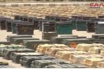 Cận cảnh kho vũ khí khổng lồ của phiến quân mới bị quân đội Syria thu giữ