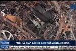 Video: Cận cảnh 'nghĩa địa' xác xe sau thảm họa Carina