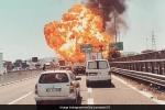 Video: Xe bồn phát nổ như bom sau va chạm với xe tải trên cao tốc
