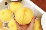 Đào vàng Nhật Bản: Món quà hút khách mùa vu lan