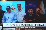 Biểu cảm đặc biệt của phiên dịch viên khi đưa tin bão Irma gây sốt mạng xã hội