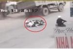 Clip: Tránh 2 cô gái ngã xe máy, xe tải bẻ lái đâm ô tô con rồi lật nhào ở Hải Phòng