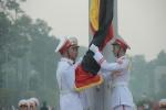 Ảnh: Lễ thượng cờ rủ Quốc tang nguyên Tổng Bí thư Đỗ Mười