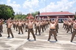 Nơi 'diệt mỡ bụng' cho cảnh sát béo phì ở Thái Lan