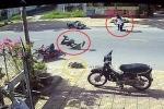 Chó chạy rông gây tai nạn liên hoàn trên đường