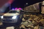 Xe tải chặn đầu container gây tai nạn trên cao tốc Hà Nội - Bắc Giang