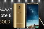 Concept Galaxy Note 8 Gold sang trọng, vân tay siêu âm