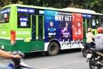Xe buýt quảng cáo xe gắn máy tại TP.HCM: Trống đánh xuôi, kèn thổi ngược