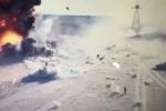 Video: Xe bom tự sát lao vào xe tăng nổ tan tành bất chấp mọi hỏa lực