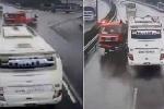 Tai nạn kinh hoàng xe cứu hỏa - xe khách: Rẽ ngoặt trên cao tốc kiểu 'tự sát' rất phổ biến tại Việt Nam
