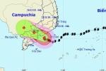 Clip: Bão số 9 suy yếu thành áp thấp trên đất liền các tỉnh Đông Nam Bộ