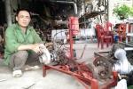 Máy cấy 'không động cơ' của lão nông Ninh Bình