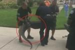 Clip: Bị trói chặt 4 chân, cá sấu tung tuyệt kỹ húc đầu, hạ gục cảnh sát Mỹ
