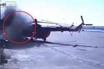 Clip: Khoảnh khắc trực thăng đâm vào tòa nhà, gãy đuôi tan nát