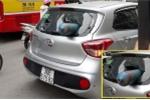 Truy tìm xe tải làm rơi bình khí, xuyên thủng ô tô đang chạy trên phố Hà Nội