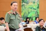 Bộ trưởng Công an Tô Lâm trả lời chất vấn phòng chống tội phạm