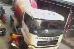 Triệu tập tài xế lái xe bồn cố tình đánh lái tông 2 mẹ con đi xe máy