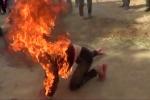 Người đàn ông cháy như đuốc trên đường phố Hải Phòng