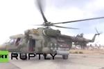 Video: Trực thăng Mil Mi-24 bảo vệ căn cứ không quân Nga ở Syria