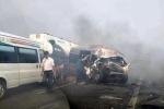 Khói mù mịt cao tốc cao tốc TP.HCM - Long Thành - Dầu Giây, nhiều ô tô tai nạn liên hoàn