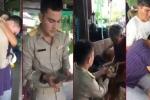 Thấy gì qua video chàng cảnh sát trẻ Thái Lan hiếu thảo với ông bà, cha mẹ khi nhận tháng lương đầu?