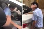 Clip: Bị sờ đùi khi học lái xe, nữ học viên chửi bới đạp tới tấp vào người dạy
