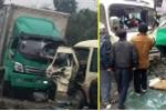 Xe tải đối đầu xe khách, nhiều hành khách bị thương