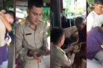 Thay gi qua video chang canh sat tre Thai Lan hieu thao voi ong ba, cha me khi nhan thang luong dau? hinh anh 1
