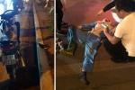 'Ma men' lái xe máy tông trọng thương công nhân môi trường Hà Nội