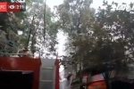 Trực tiếp: Cháy cửa hàng phụ tùng ô tô đường Trần Khát Chân