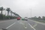 Phạt 7.5 triệu đồng, tước bằng lái 2 tài xế ô tô tạt đầu nhau trên đường ra sân bay