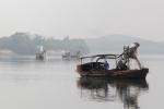 Công trường khai thác cát lậu ở thượng nguồn sông Lam thách thức cơ quan chức năng
