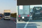 Xe tải đâm ô tôLexus biển số tứ quý trên cao tốc, 1 CSGT bị thương nặng