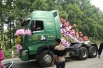 Xôn xao màn rước dâu bằng xe đầu kéo có một không hai ở Thái Nguyên
