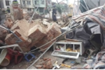 Sập nhà ở Hà Nội, cụ bà 82 tuổi bán trà đá thoát chết gang tấc