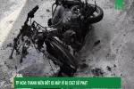 Video: Bị CSGT xử phạt, nam thanh niên đốt xe máy