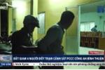 Bắt giam 4 kẻ đốt xe cảnh sát ở Bình Thuận