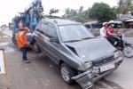 4 xe tông liên hoàn, hàng chục khách hoảng loạn ở Tiền Giang