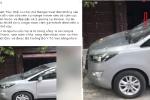Ô tô đậu chắn ngang cửa, bị chủ nhà cầm cục bê tông đập vỡ kính