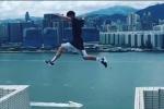 Thót tim xem màn nhảy qua nóc tòa nhà 25 tầng