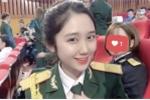Ảnh: 'Hot girl quân nhân' xinh như sao Hàn gây sốt dân mạng