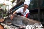 Hà Nội: 'Thuỷ quái' sông Mê Kông dài 2m, nặng 100kg náo loạn nhà hàng