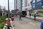 Clip: Chung cư Carina bất ngờ cháy trở lại vào giữa trưa