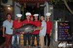 Cá hô hiếm thấy 56kg 'dẫn đầu' bộ tứ cá khủng lần đầu về Hà Nội, thực khách tranh nhau mua