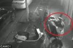 Clip: Bẻ khóa bất thành, trộm nhấc bổng xe máy bê đi