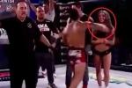 Cay cú vì thua cuộc, võ sĩ MMA tung nắm đấm trúng mặt gái xinh