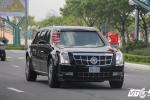Ảnh: Cận cảnh từng chi tiết siêu xe 'Quái thú' của Tổng thống Mỹ Donald Trump tại Nội Bài
