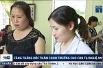 Phụ huynh Nghệ An 'cân não' bốc thăm chọn trường mầm non cho con