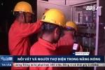 Thợ điện căng mình trong nắng nóng như thiêu đốt giữa chảo lửa Thủ đô