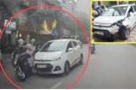 Ô tô tông xe máy rồi bỏ chạy, tài xế say rượu bị người dân vây đánh